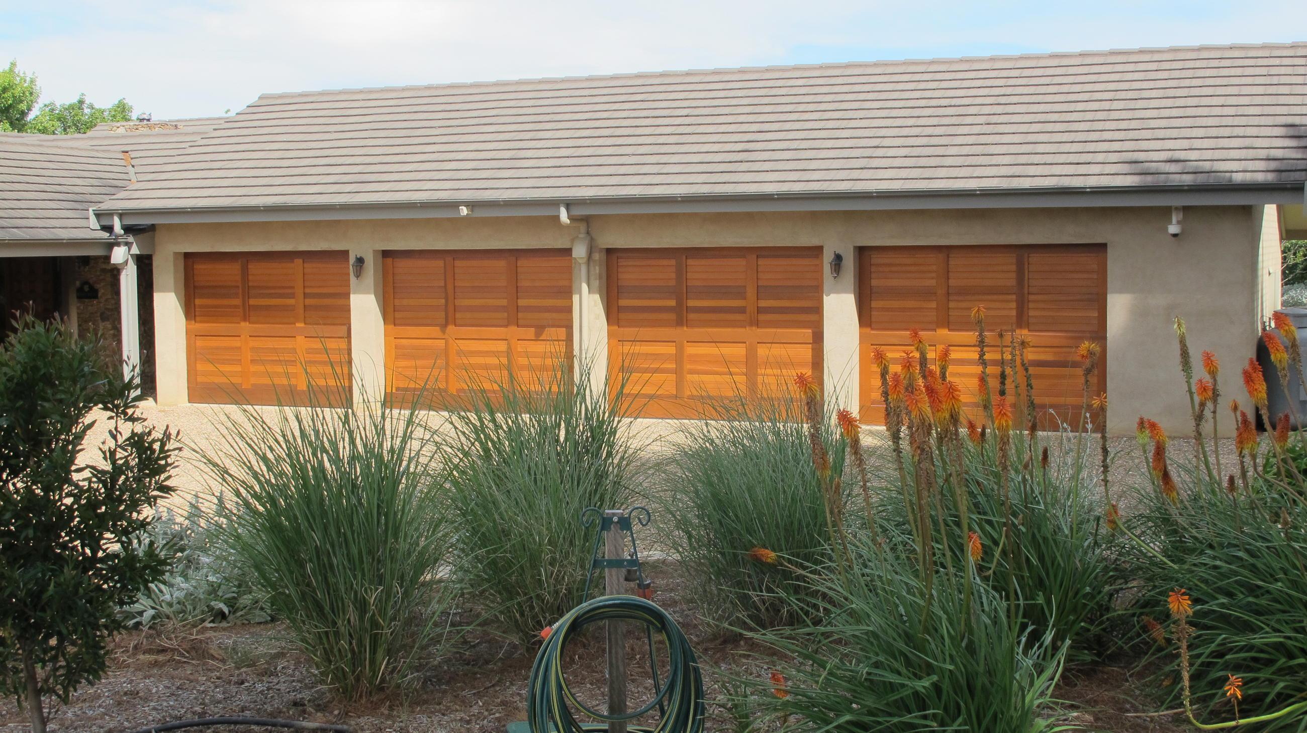 Western Red Cedar Personality Garage Doors