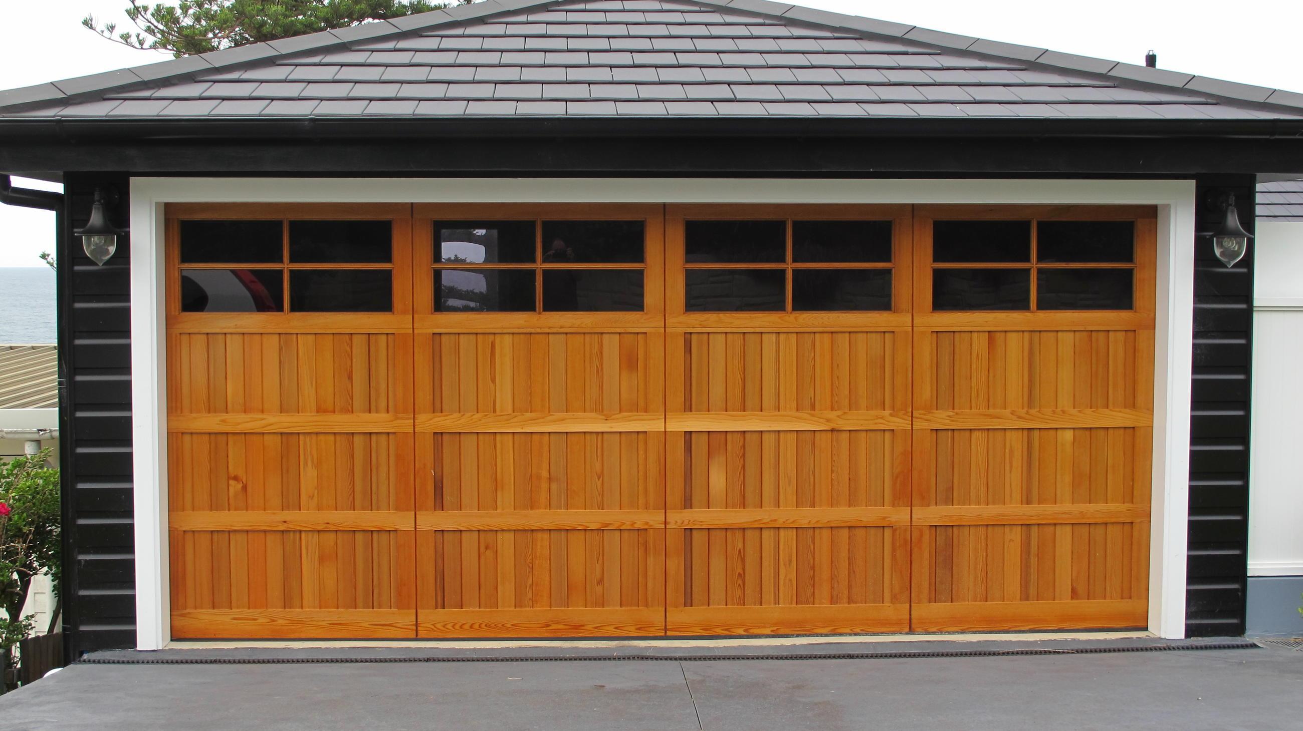 Western Red Cedar K Personality Garage Doors